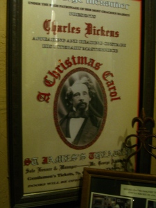 mock up of original poster of Charles Dickens ad
