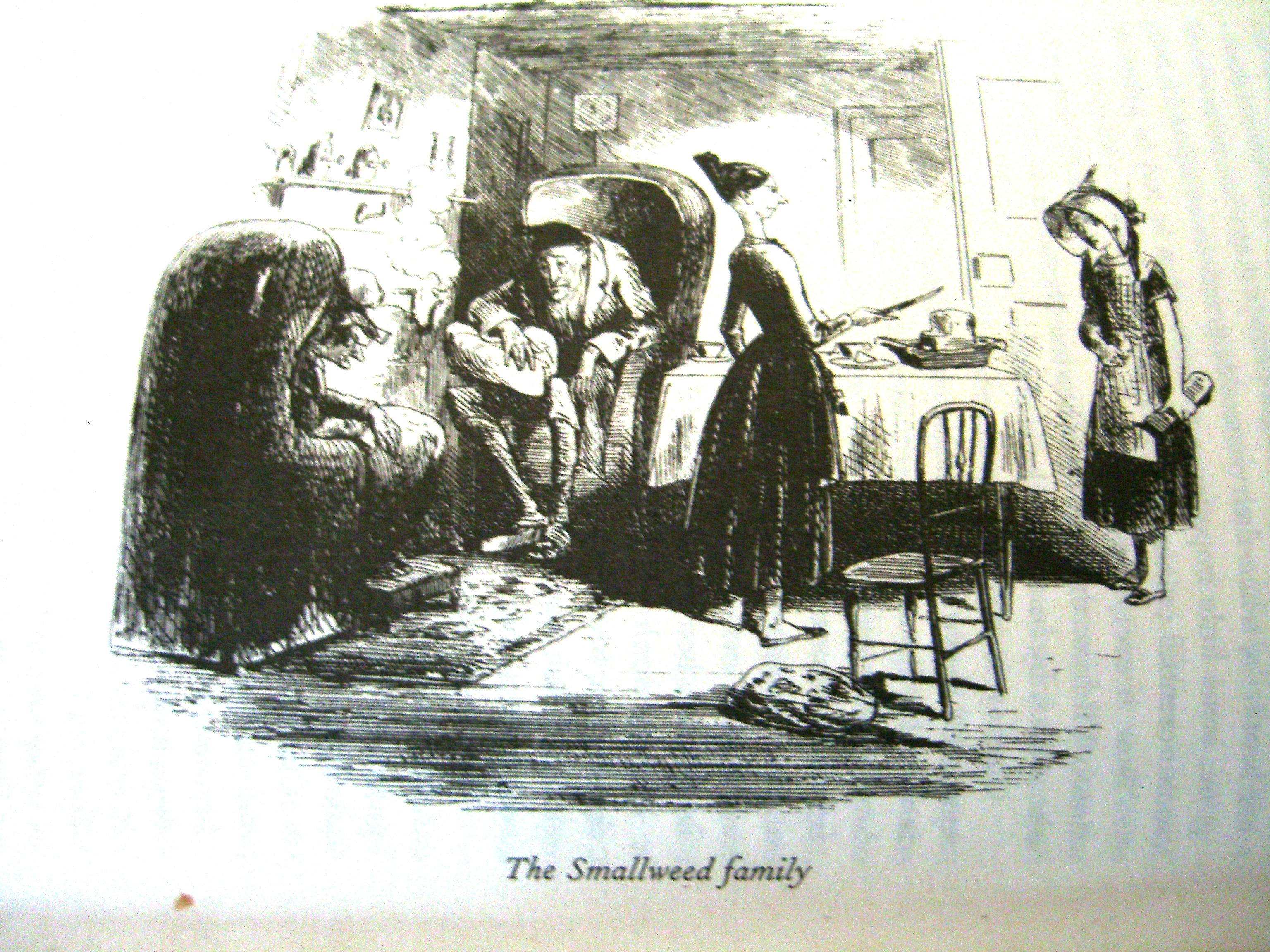 The Smallweeds In Bleak House; Illustrator Hablot Knight Browne (Phiz)  (click To