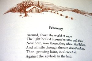 poem fragment by James Berry Bensel; from Golden Treasury of Poetry illus by Joan Walsh Anglund (click to enlarge)