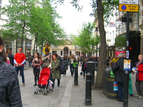 on the way to Covent Garden Market, way in back . . .