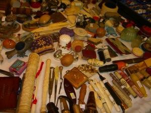 Portobello Market sewing tools display