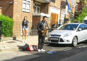 saxophone player at Portobello Road