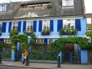 the Blue House on Portobello Road