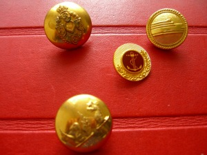 brass buttons from The Button Queen