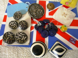 Group of old buttons from Greenwich Market©booksandbuttons
