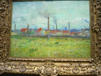 Factories at Clichy by Vincent van Gogh--sweet brushwork!