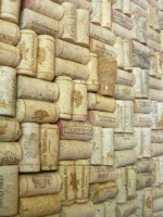 cork walls at Winery of the Little Hills St. Charles MO