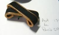 """Brass and suede button by Art de Paris, 1 1/4""""; ©booksandbuttons"""