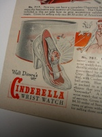 "A Cinderella Wrist Watch from Walt Disney! in a  real ""glass"" slipper!! ©booksandbuttons (click on photos to enlarge)"