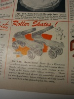 Roller Skates with bright nickel finish--with key! ©booksandbuttons